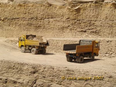 wagons in quarry