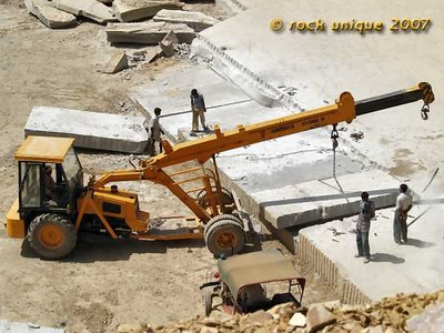 crane lifting slab