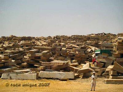 quarry scene